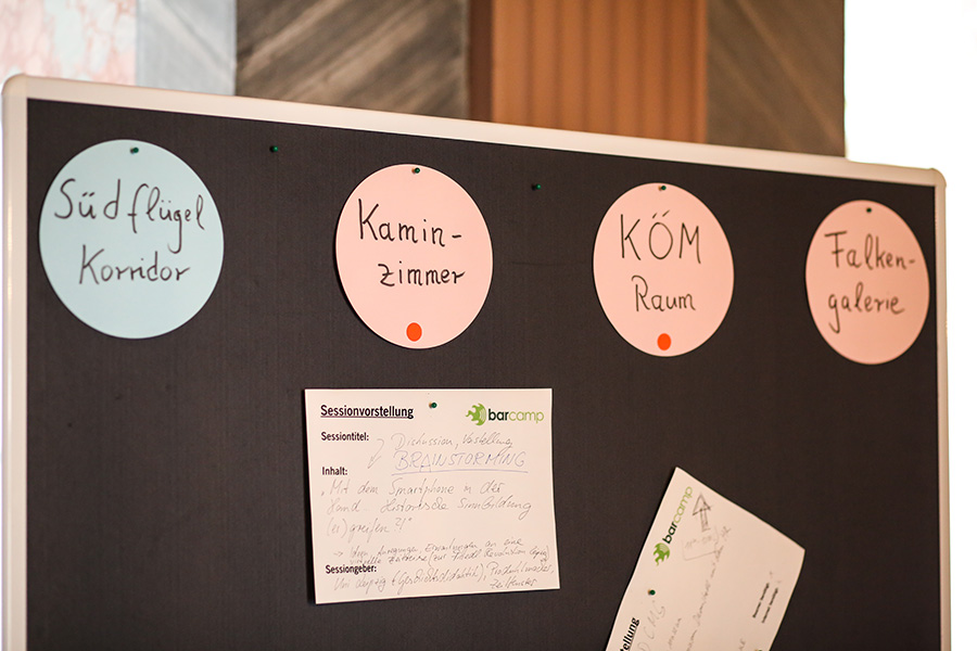 BarCamp Agenda auf Tagung »open spaces« in Weimar