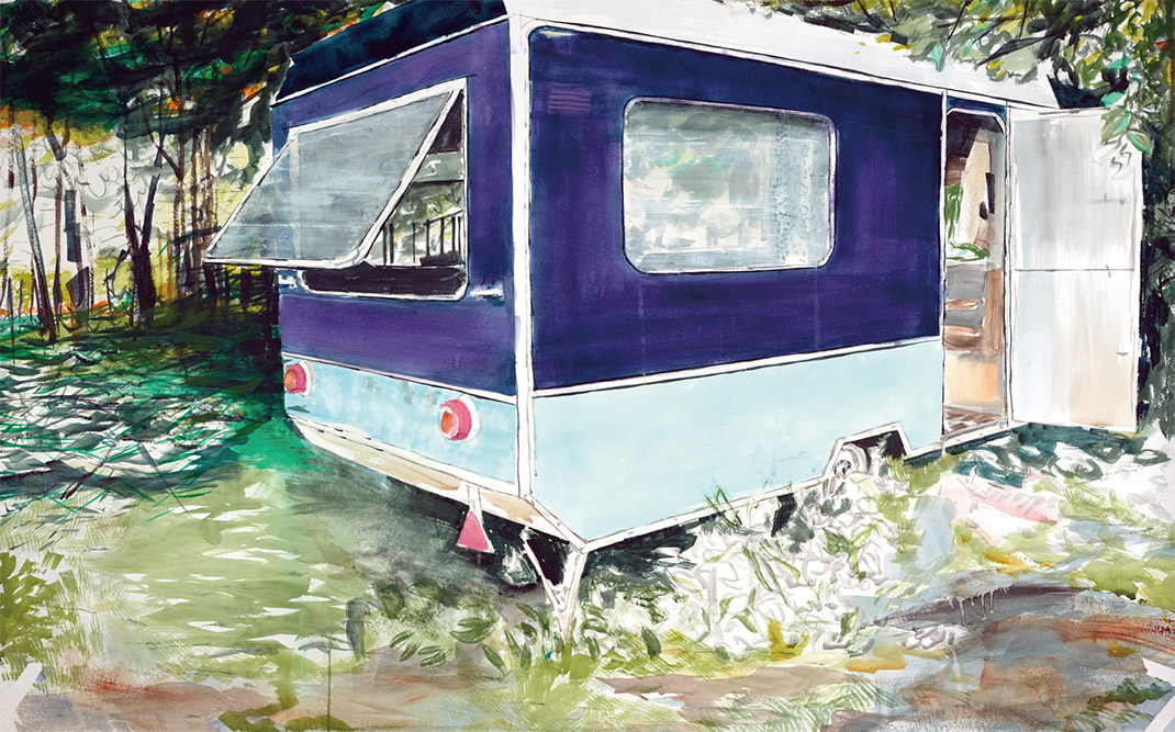 OUTDOOR, watercolor on paper, 130 cm x 180 cm, 2015