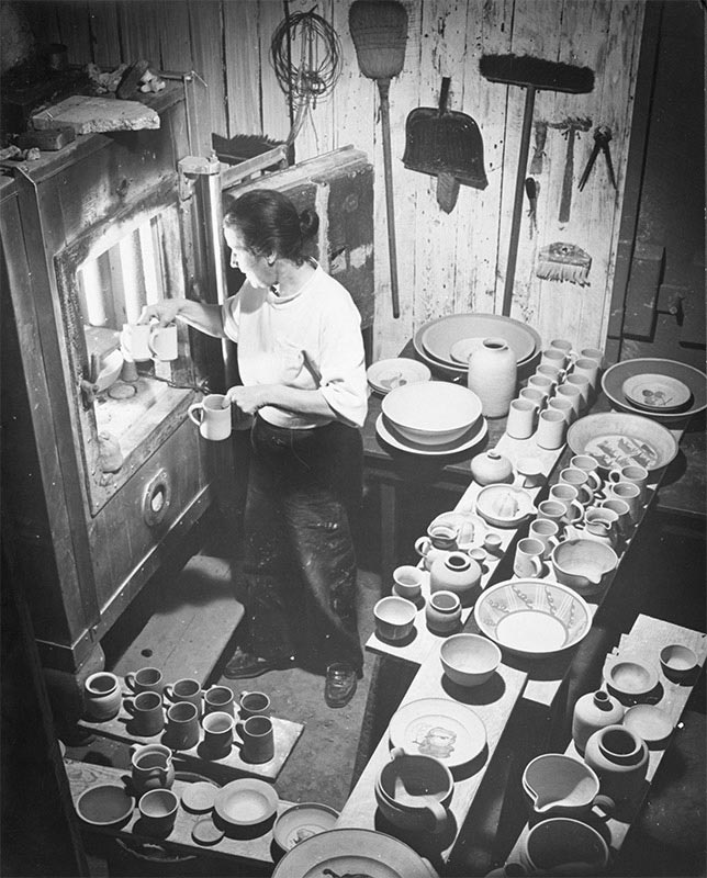 Until 1979 Marguerite Friedlaender-Wildenhain gave summer courses for young ceramic artists at the Pond Farm Pottery in Guerneville, photo by Otto Hagel, provided by permission from Stewards of the Coast and Redwoods